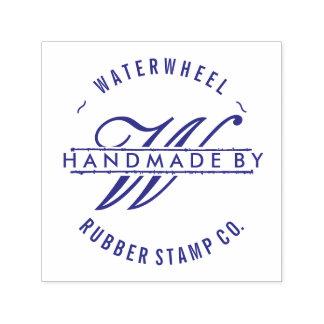 "Custom ""Handmade By"" with Monogram Self-inking Stamp"