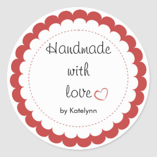Custom Handmade With Love Party Favor Stickers