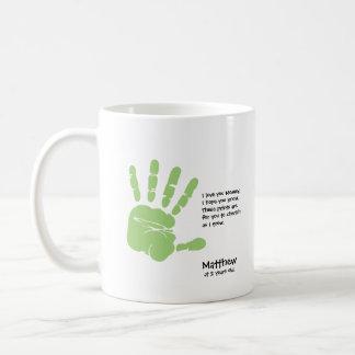 Custom handprint mug from child,