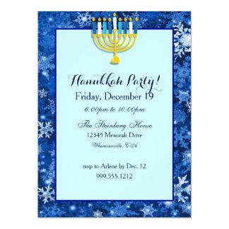 "Custom Hanukkah Party Invitations 6.5"" X 8.75"" Invitation Card"