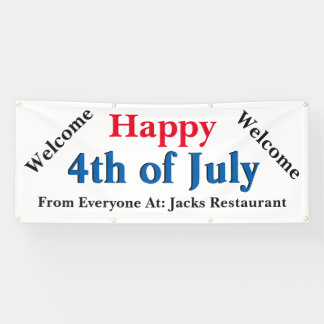 Custom Happy 4th of July Advertisment Banner