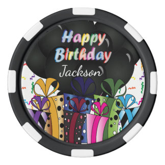 Custom Happy Birthday Celebration Poker Chips