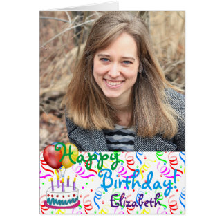 Custom Happy Birthday Photo Card