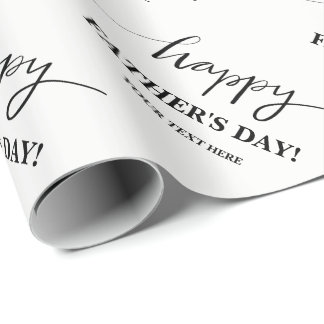 Custom Happy Father's Day wrapping paper for dad