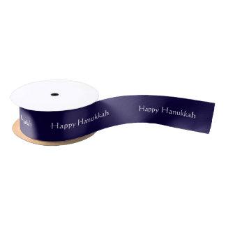 Custom Happy Hanukkah Satin Ribbon