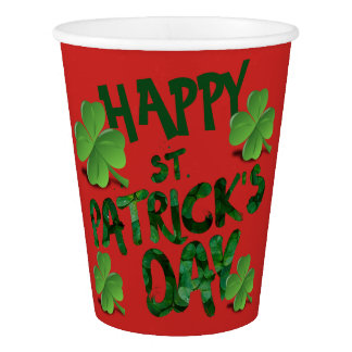 Custom Happy Saint Patrick's Day Paper Cup