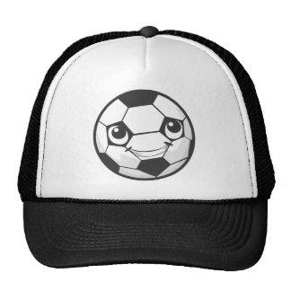 Custom Happy Smiling Soccer Ball Hats