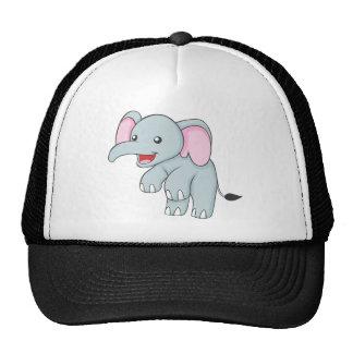 Custom Happy Standing Elephant Mesh Hats