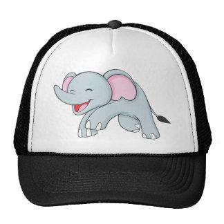 Custom Happy Walking Elephant Mesh Hat