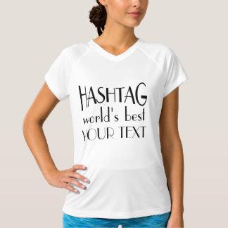 Custom Hashtag World's Best Fitted V-Neck T-Shirt