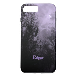 Custom Haunted Sky with Ravens Purple iPhone case