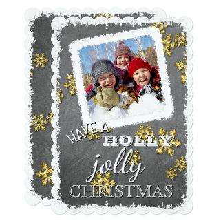 Custom Have A Holly Jolly Christmas On Blackboard Card