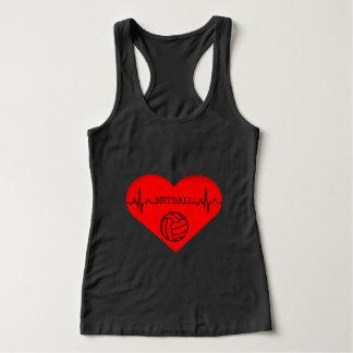 Custom Heart and Ball Theme Love Netball Singlet