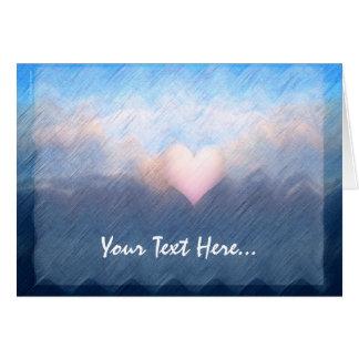 Custom Heart Clouds Sea Card