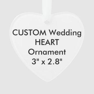 Custom HEART Hanging Ornament Decoration