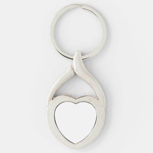 Custom Heart Keychain Keyrings