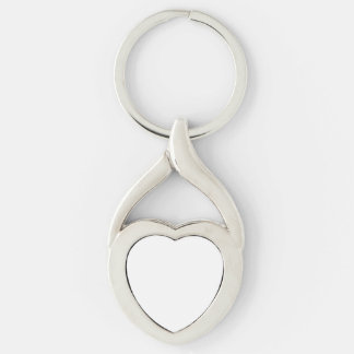 Custom Heart Keychain Silver-Colored Twisted Heart Key Ring
