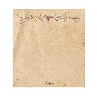 Custom Heart Stars Notepad