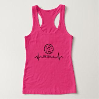 Custom Heartbeat and Ball Theme Netball Singlet