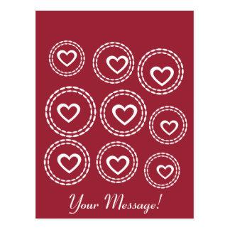 Custom Hearts Love Baby Shower Birthday Gift Postcard