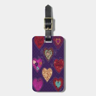 Custom Hearts Luggage Tag