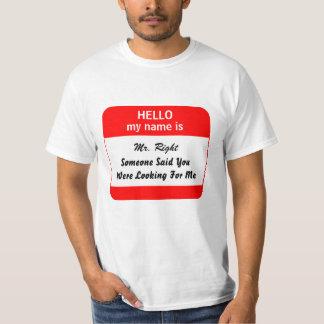 Custom hello Funny flirting T-Shirt