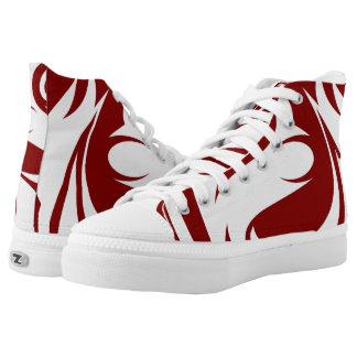 Custom High Top ZIPZ shoes Printed Shoes