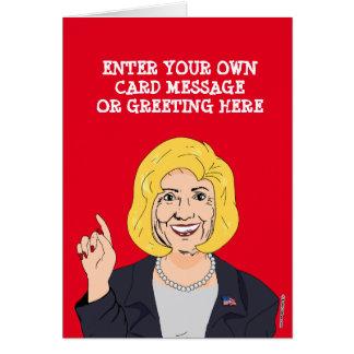 Custom Hillary Clinton Cartoon Card