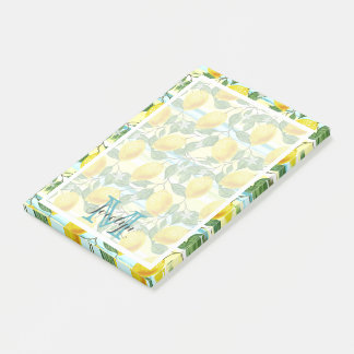 Custom Hip Tropical Summer Lemons Fruit Pattern Post-it Notes