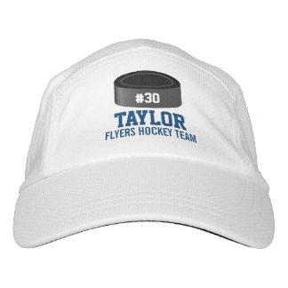 Custom Hockey Player Number Team Name Hat