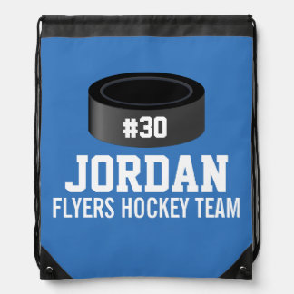 Custom Hockey Player Number Team Name Rucksack