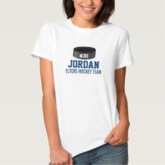 Custom Hockey Player Number Team Name T Shirts