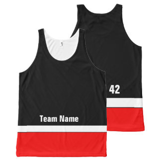 Custom Hockey Team Colors Tank Top All-Over Print Tank Top