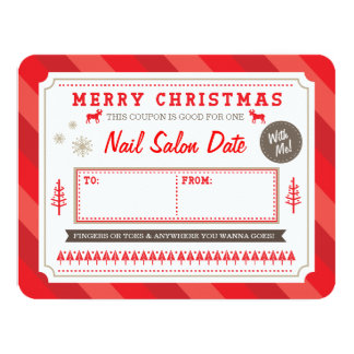 Custom Holiday Gift Coupon by Origami Prints 4.25x5.5 Paper Invitation Card