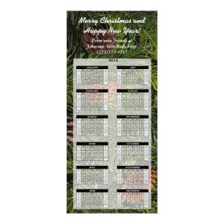Custom Holiday Promotional 2014 Calendar Card Rack Card Template