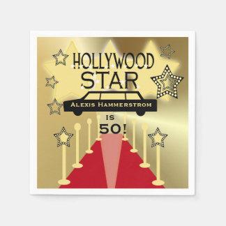 Custom Hollywood Star Birthday Paper Napkins