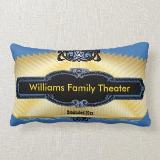 Custom Home Theater Add Your Monogram Lumbar Cushion