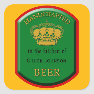 Custom Homemade Beer Labels Stickers