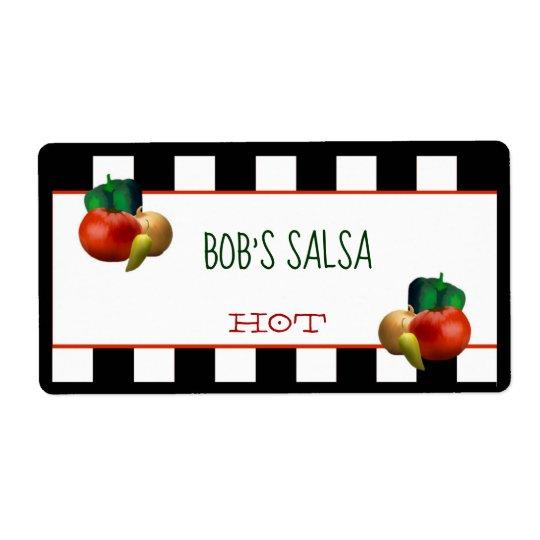 Custom Homemade Salsa Label