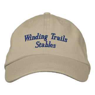 Custom Horse Equine Boarding Stable Business Embroidered Hat