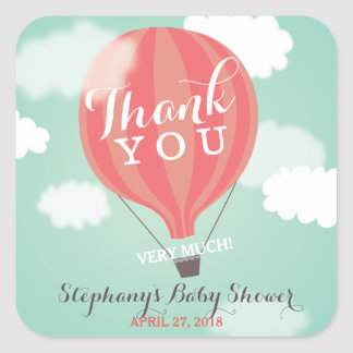 Custom Hot Air Balloon Thank You Stickers