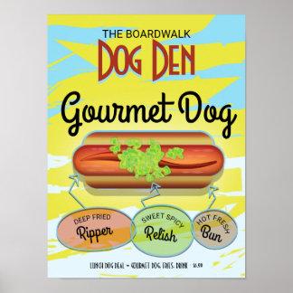 Custom Hot Dog Poster