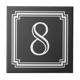 Custom House Number or Monogram Tile