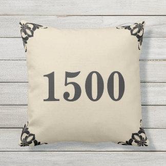 Custom House Number Outdoor Cushion