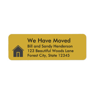 Custom House We Have Moved Moving Announcement Return Address Label