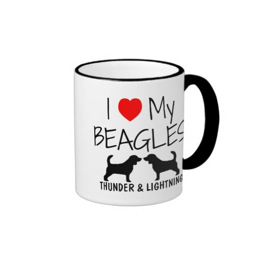 Custom I Love My Beagles Coffee Mug