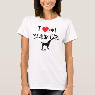 Custom I Love My Black Lab T-Shirt