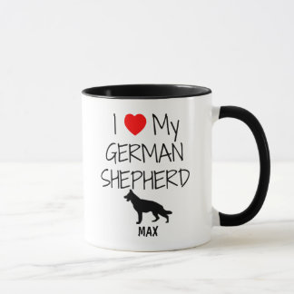 Custom I Love My German Shepherd Mug