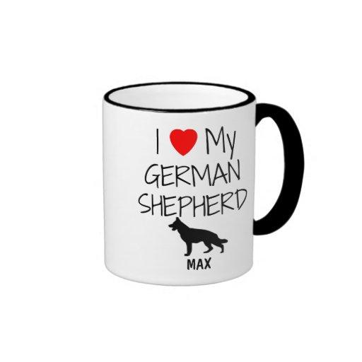Custom I Love My German Shepherd Mugs