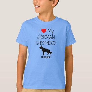 Custom I Love My German Shepherd T-Shirt